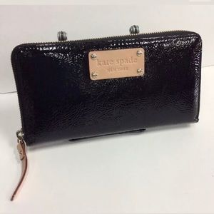 New no tag Kate spade wallet patent leather black